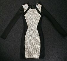 Great Ladies Black & White Bodycon Dress By H&M. Size 6. New Without Tags.