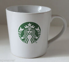 Starbucks White Ceramic Green Mermaid Logo Coffee Cup Mug 12 oz (354 ml)