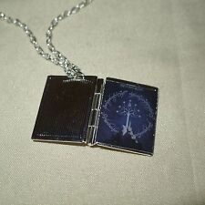 Lord of the Rings book LOCKET Silver necklace fantasy, Return of the King