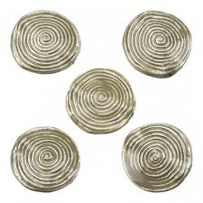 Enamelled Hypnotic Swirl Beige Round Metal Bead 26mm Pack of 5 (E86/8)