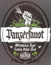 Poland Brewery Kraftwerk Panzerfaust Beer Label Bieretikett Microbrewery kf1.1