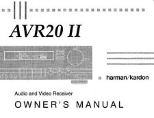 Harman Kardon AVR-20 Mk2 AV Receiver Owners Manual
