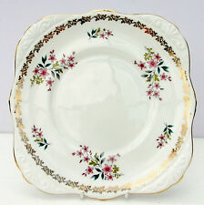 Vintage Royal Grafton Floral Spring Fine Bone China Cake Plate Floral
