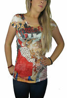 Ladies Embellished Print T-shirts Tops Women's size 8 - 14