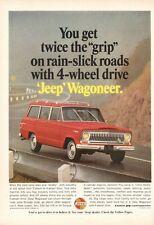 1966 Kaiser JEEP Wagoneer 4-Wheel Drive on Highway PRINT AD
