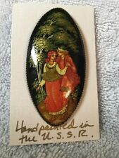 Hand painted Brooch And Lacquer Box Made In The USSR