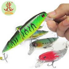 1pcs Swimbait 3 Sections Jointed Bait Minnow Fishing Lures Fish Hook Crankbait