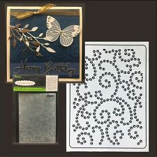 GEM SWIRL folder - Darice Embossing Folders 8380 Cuttlebug Compatible dot,swirls