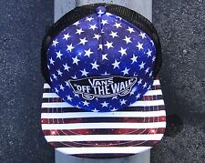 Vans Skateboard Beach Girl Stars USA Logo Unisex Black Snapback Hat