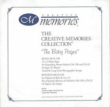 Creative Memories - The Baby Pages - Refill RCM-12B Lavender Pages