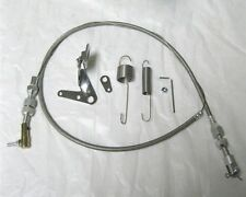 """Street Hot Rod Universal 24"""" Stainless Steel Throttle Cable & Spring Set"""
