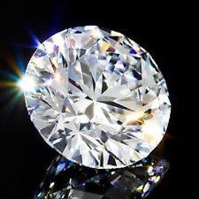 Round 7 mm Fancy 1.5 ct VVS D White Sapphire Brilliant Diamond Cut Solitaire