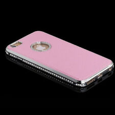 Limited Edition Luxury Metal+Leather Rhinestone Phone Case Cover for iPhone 5 6