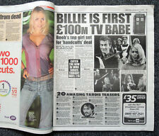 DAILY STAR NEWSPAPER 15 APR 2006 . DOCTOR WHO DAVID TENNANT BILLIE PIPER FEATURE