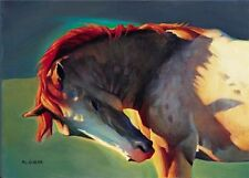 Itchy Spot by Nancy Glazier Open Edition 9x12 Print on Paper of Horses