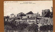 CPA CARTE POSTALE VEHO EN RUINES ENVIRONS DE LUNEVILLE LA GRANDE GUERRE 1916