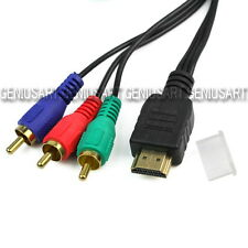 3ft HDMI to 3-RCA RGB A/V Component Conversion Cable Male Audio Converter Cable
