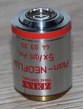 Zeiss Mikroskop Microscope Objektiv Plan-NEOFLUAR 5x/0,15 Pol (44 03 23)