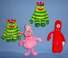 """YO GABBA GABBA Plush;Foofa-10"""";Red Muno-10"""";Brobee-7"""";2011-2012:Toy LOT-4-EUC"""