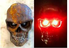 MOTORCYCLE LED LIGHTING , RAT ROD LOOK 3.8 IN TALL SKULLS 2 LEDS IN EA