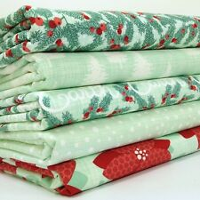 MODA Winterberry Christmas fat quarter bundle ice / red 100%  cotton fabric