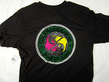 Quiksilver Surf board Ying Yang vintage style men's T shirt black size LARGE