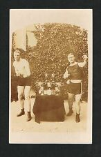 RARE 1911 BOMBARDIER BILLY WELLS real photo boxing postcard card GREAT BRITIAN
