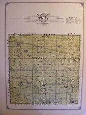 1913 Antique Map Renville County MN Minnesota Minn Troy Township Plat Danube