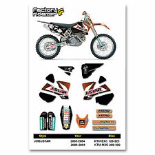 2003-2004 KTM EXC & MXC Dirt Bike Graphics kit Motocross Graphics Decal
