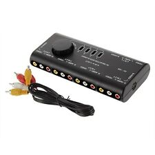 4 in 1 out RCA S-Video AV-Audio Games Switch Selector Free AV Cable 109av