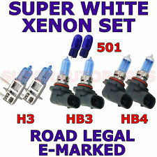 TOYOTA SUPRA 1993-1999 SET H3 HB3 HB4 501 XENON LIGHT BULBS