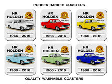 HR  HOLDEN  186  UTE  50th   ANNIVERSARY  SET OF 6   RUBBER DRINK  COASTERS