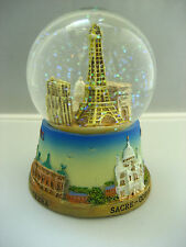 Eiffel tower large snow globe Paris souvenirs of France