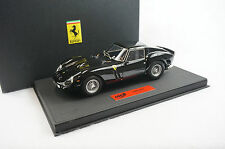 1/18 BBR FERRARI 250 GTO GLOSS BLACK/BLACK DELUXE LEATHER BASE LE 20 PIECES MR