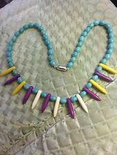 Nuevo Collar de perlas de piedras preciosas de color turquesa, 50cm