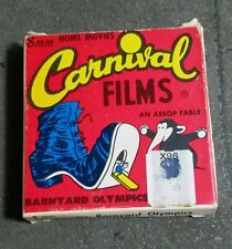 CARNIVAL FILMS 8 MM HOME MOVIES BARNYARD OLYMPICS AND AESOP FABLE C.F.I.  LODI