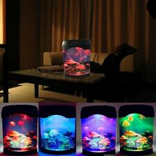 Multicolor LED Light Swimming Mood Lamp Aquarium Jellyfish Tank Night Light
