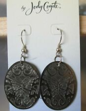 Jody Coyote Earrings JC0490 new hypoallergenic silver butterfly dangle brown