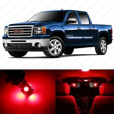 8 x Brilliant Red LED Interior Light Package For 2007 - 2014 GMC Sierra