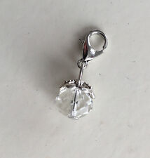 Pretty Clear Crystal charm dangle. Great on Lenny Eva ,origami owl ,all jewelry