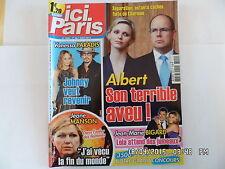 ICI PARIS N°3500 01/08/2012 ALBERT DE MONACO VANESSA PARADIS JEANE MANSON  H67