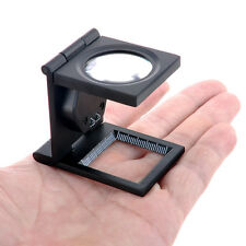8x Tri-Folding Magnifier Desktop Magnifying Glass Repair Tool with LED Light