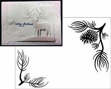 Christmas Embossing Folders- PINE BRANCH folder Darice 1218-120 Holidays,trees