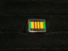 Solid 925 Sterling Silver Vietnam Campaign Military Ring Free Shipping