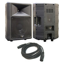 "Pyle Pro PPHP1259 12"" Woofer 2-Way Full Range Loud Pa Speaker 500 Watt XLR Cable"