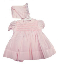 Petit Ami Preemie Pink Smocked Panty Dress with Bonnet NWT