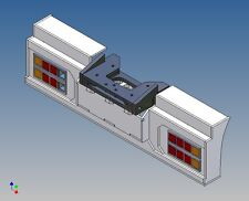 HS3C4K - Heckstoßstange für TAMIYA LKW 1:14 3-Achser für Carson 4-Kammerleuchten