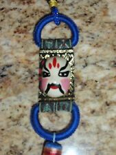 KABUKI MASK  JAPANESE TALISMAN WITH TASSEL