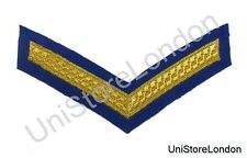 Chevron Lance Corporal Gold on Royal Blue  150mm Wide 1 Bar  R1390