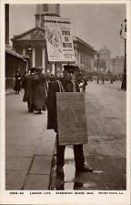 London Life. Sandwich Board Man by Rotary # 10513-40.